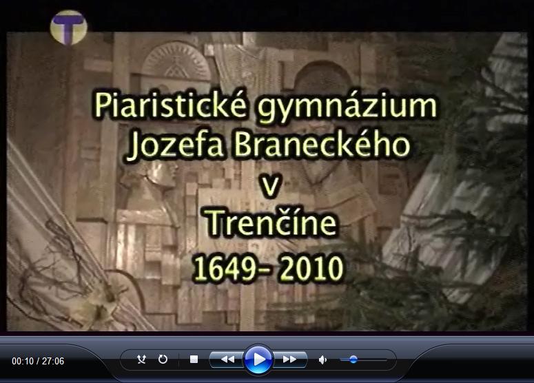 Mozaika o Piar. gym. Jozefa Braneckého v Trenčíne