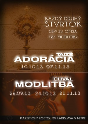 Modlitby mladých v Nitrianskom kostole sv. Ladislava