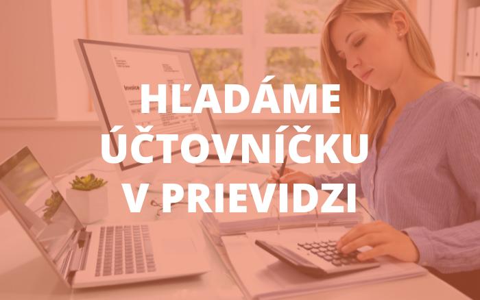 Ponuka pracovnej pozície: Účtovníčka/ník školy v Prievidzi
